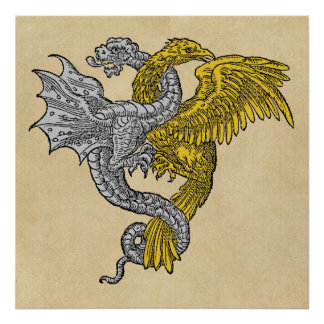 Silver Dragon and Golden Eagle Poster