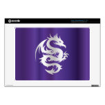Silver Dragon on Imperial Purple Acer Chromebook Decals