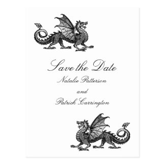 Silver Dragon Save the Date Postcard