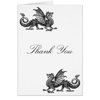Silver Dragon Thank You Card