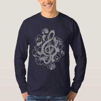 Silver Dragon treble clef peonies Custom Shirt