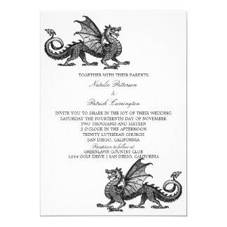 Silver Dragon Wedding Invite