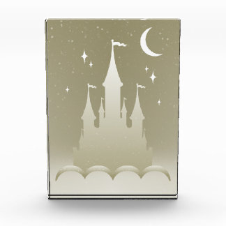 Silver Dreamy Castle In The Clouds Starry Moon Sky Award