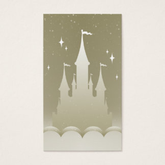 Silver Dreamy Castle In The Clouds Starry Sky Business Card