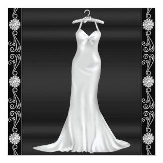 Silver  Dress Birthday Party Invitation
