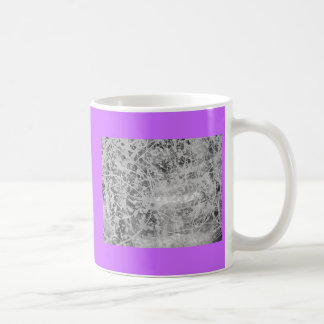 silver drip purple coffee mug