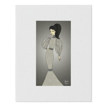 jasmineflynn Silver Duchess Faux Canvas Print