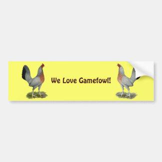Silver Duckwing Game Hen Bumper Sticker