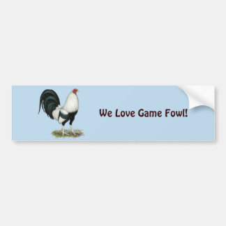 Silver Duckwing Gamecock Bumper Sticker