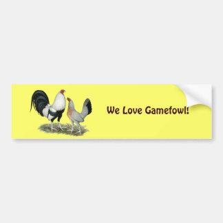 Silver Duckwing Gamefowl Bumper Sticker