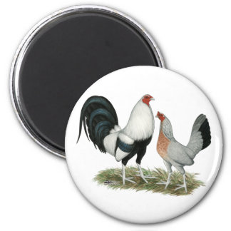 Silver Duckwing Gamefowl Magnet