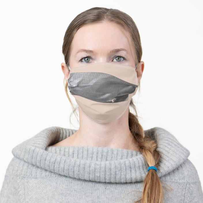 Silver Duct Tape Adult Cloth Face Mask | Zazzle.com