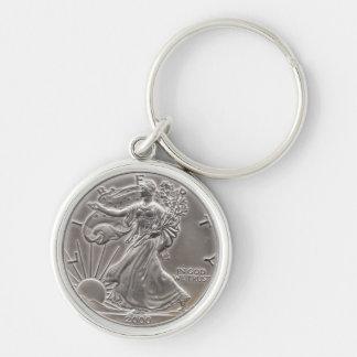 silver eagle keychain