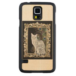 Silver Egyptian Mau Carved® Maple Galaxy S5 Slim Case