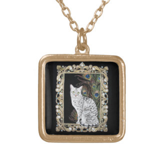 Silver Egyptian Mau Gold Plated Necklace
