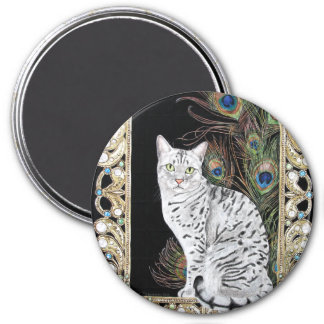 Silver Egyptian Mau Magnet