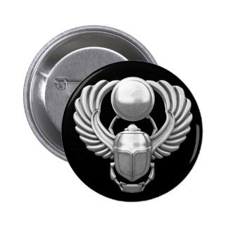 Silver Egyptian Scarab Buttons