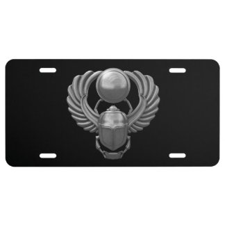 Silver Egyptian Scarab License Plate