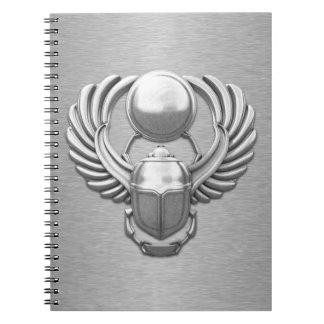 Silver Egyptian Scarab Notebook