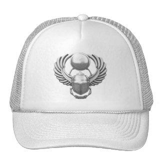 Silver Egyptian Scarab Trucker Hat