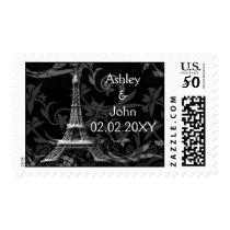 silver Eiffel tower French Wedding Postage