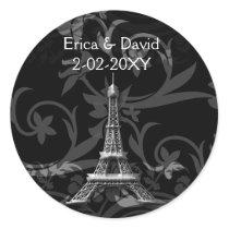 silver Eiffel Tower French wedding Seals