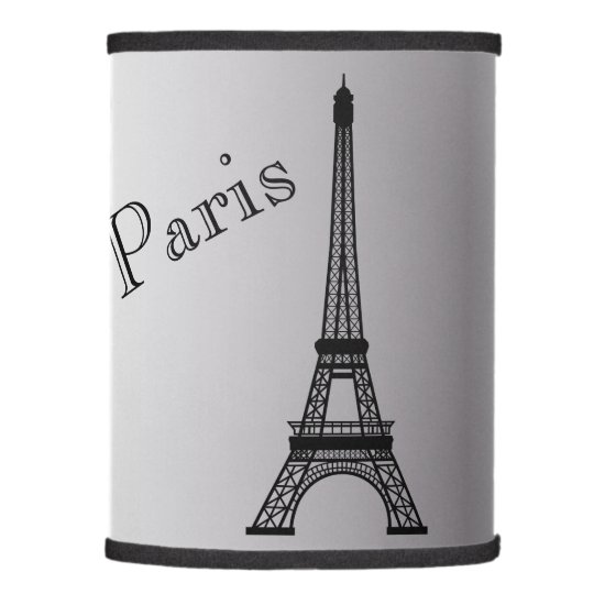 Silver Eiffel Tower Lamp Shade