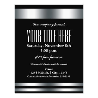 Silver Elegance Glamour Event Flyer Poster