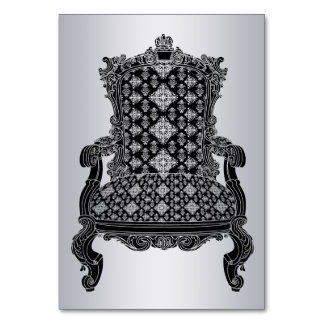 Silver elegant chair Number Card table card