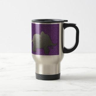 silver elephant - purple travel mug