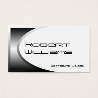 Silver Ellipse Modern Professional Business Card