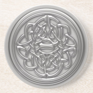Silver Embossed Effect Cletic Knot Drink Coaster