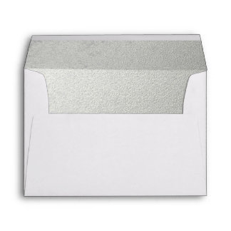 Silver Embossed-effect Lined Envelope