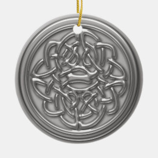 Silver Embossed Style Cletic Knot Hanging Ornament