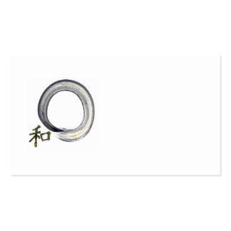 Silver Enso with Kanji character for Harmony Business Card