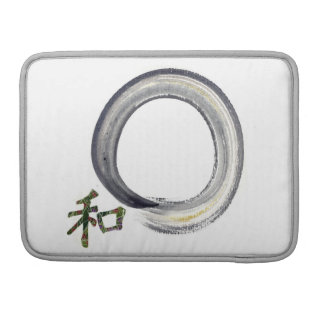 Silver Enso with Kanji character for Harmony Sleeve For MacBook Pro