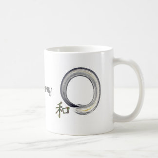 Silver enso with Kanji - harmony Mug
