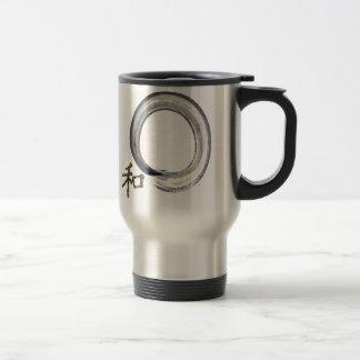 Silver enso with Kanji - harmony Coffee Mugs