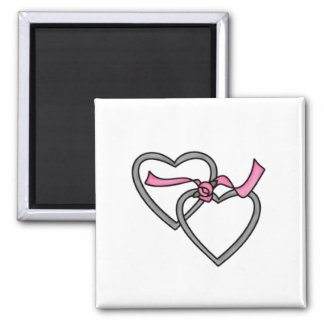 Silver Entwined Hearts Magnet