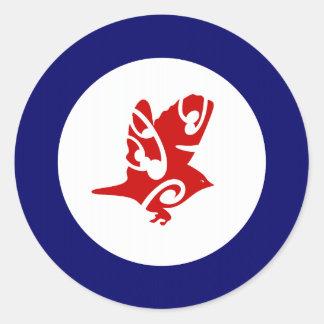 Silver Eye Tauhou Roundel Round Sticker