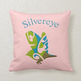 Silver eye throw pillow