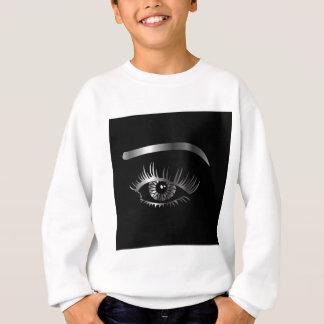 Silver eye with eyebrow and details inside sweatshirt