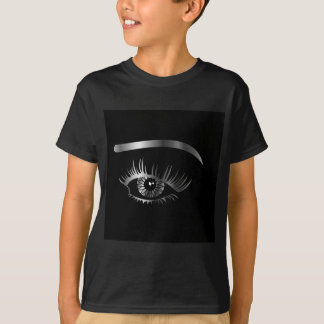 Silver eye with eyebrow and details inside T-Shirt