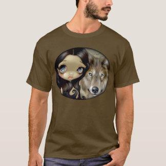 Silver Eyed Wolf SHIRT fantasy dog big eye art