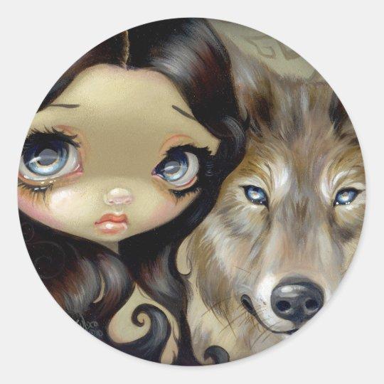 """""""Silver Eyed Wolf"""" Sticker"""