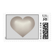 Silver fade heart postage