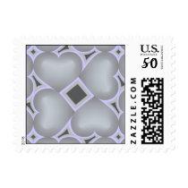 Silver fade hearts love surround 25th anniversary postage