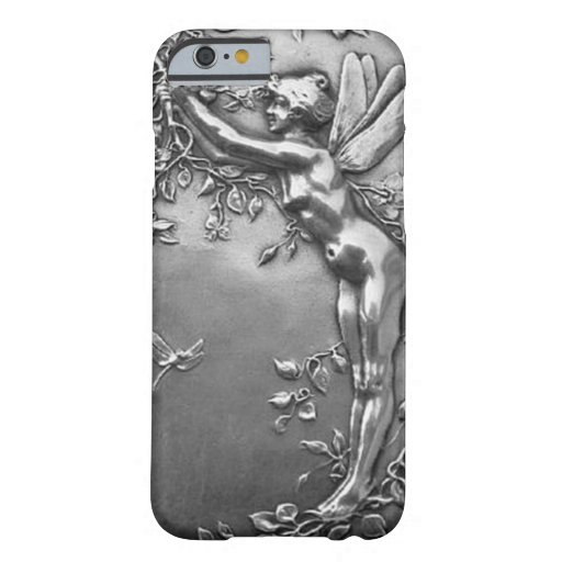Silver Fairy Antique Art Nouveau Vintage Jewelry Barely There iPhone 6 Case