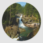 Silver Falls at Mount Rainier National Park Classic Round Sticker