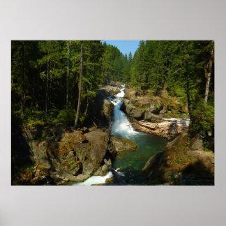 Silver Falls at Mount Rainier National Park Poster